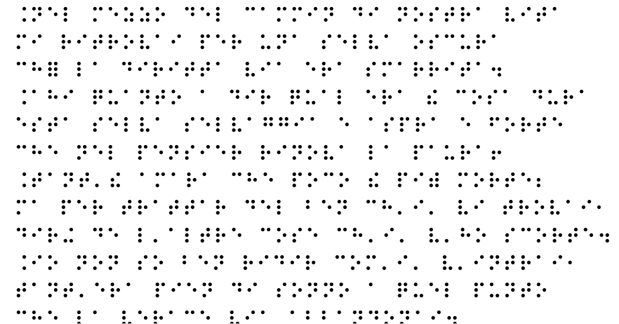 Beginning of the Divine Comedy in Braille